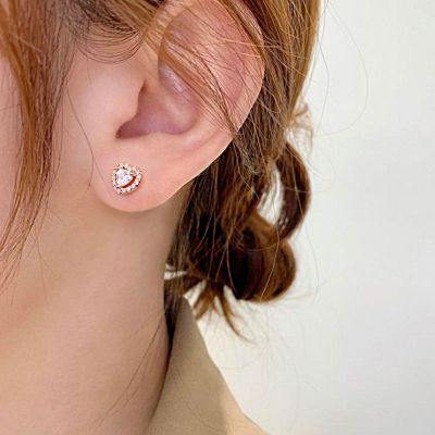 Heart Shape Stud Earrings