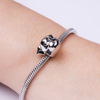 Dalmatian Puppy Charm Sterling Silver Bead for Dog Lover