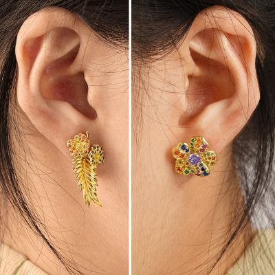Flower & Leaf Stud