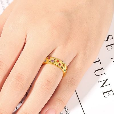 Multi-Color Band Ring