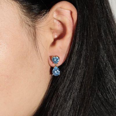 Heart Dangle Drop Earrings