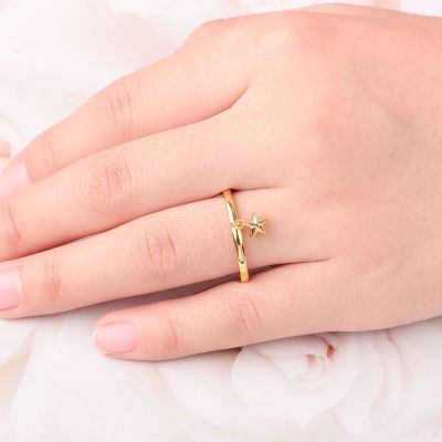 Minimalist Star Open Ring