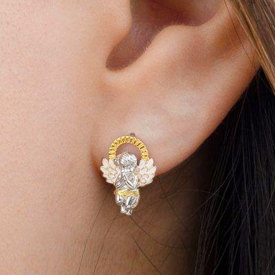 Baby Angel Earring
