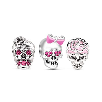 Girly Skull Charms Set