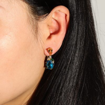 Light Sapphire Drop Earrings