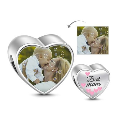 Best Mom Photo Charm