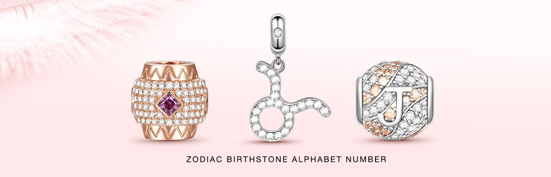 Zodiac Birthstone Alphabet Number